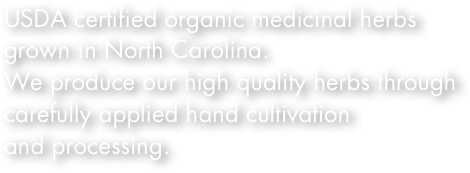 USDA certified organic medicinal herbs 